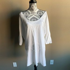 American Apparel White T-shirt Dress